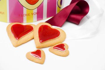 Biscotti a forma di cuore per San Valentino