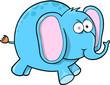 Crazy Blue Elephant Vector