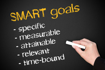 SMART goals - Business Concept