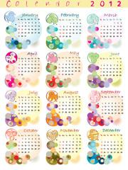 calendar 2012 with zodiac signs