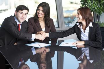 Einigung zwischen Geschäftleuten