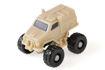 Small toy jeep close-up