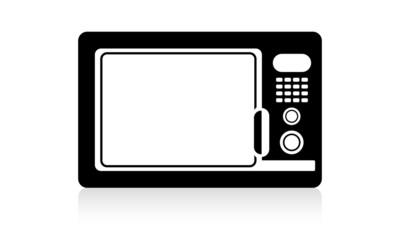 Stylized microwave symbol.