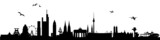 Fototapety Skyline Deutschland - verschiedene Städte vereint