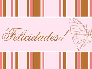 Cartão de desejo de felicidades com texto e imagem