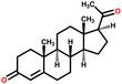 Progesterone structural formula