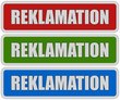 3 Sticker rgb oc REKLAMATION