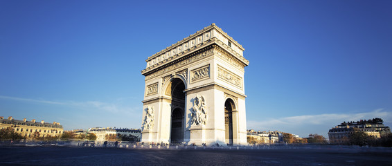 panoramic view of the Arc de Triomphe