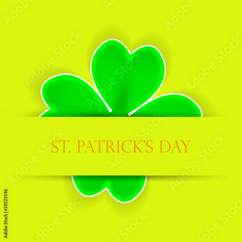 St. Patrick's day applique. Vector background