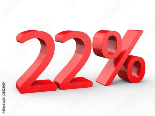 3d Schrift 22% rot