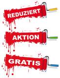 Fototapety Werbeschilder Set für Verbraucher