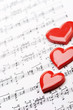 i love music! sheet of music with heart