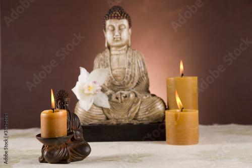 Fototapeten,buddhas,buddhismus,buddhas,kerze