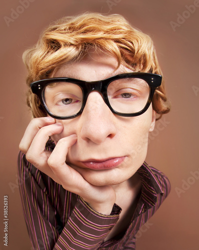 Sad nerdy guy
