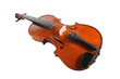 Elegant shot of a violin on white background