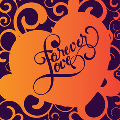 Love Forever Vector Backgound