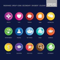 Circle - Insurance group icons secondary gradient colour