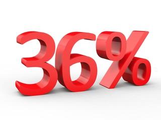 3d Schrift 36% rot