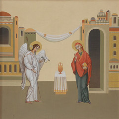 The Annunciation. Ukraine, Lviv. Artist Jaroslav Protsiv