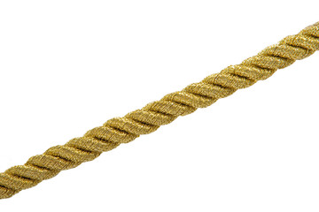Gold rope isolated