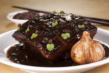 Braised Pork Belly with Dark Soy Sauce