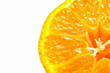 Mandarinen-Hälfte