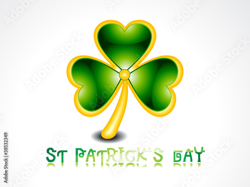 Printabstract glossy clover with gold broder