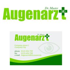 Augenarzt - Firmenzeichen und Visitenkarte