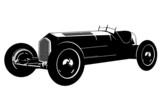 vintage race car silhouette