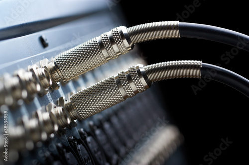 Leinwanddruck Bild Audio connectors