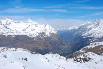 Panoramic view from Matterhorn, Switzerland