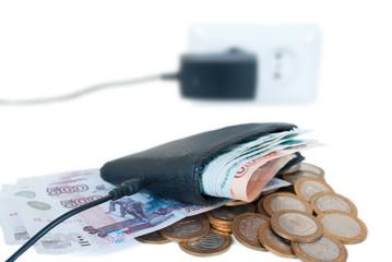 концепция пополнениея бюджета с помощью зарядного устройства