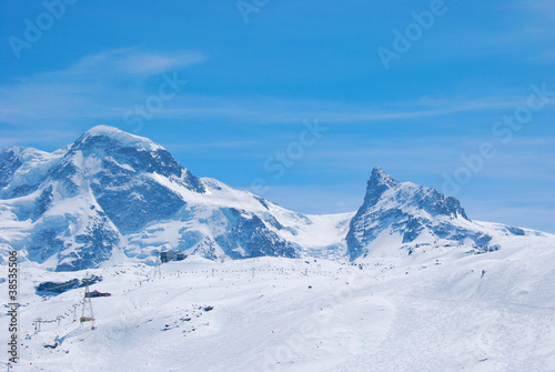 Panoramic view from Matterhorn, Zermatt, Switzerland