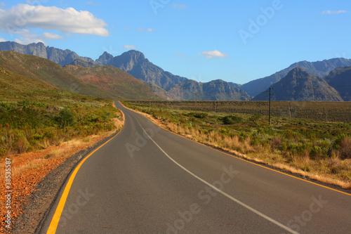 Scenic road, Western Cape, South Africa