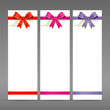 Colorful ribbon and white paper card vector illustration
