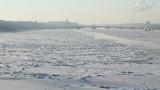 (pan) St Petersburg, Neva river in winter poster