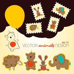 Vector hand-draw animals