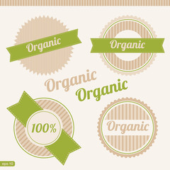 Set of organic emblem