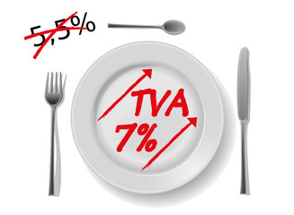 restauration tva 7% france 2012 et 5,5
