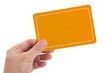 Yellow Blank Card