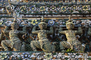 guards from mosaic at Wat Arun