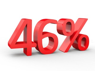 3d Schrift 46% rot