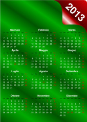 Calendario italiano 2013