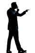 silhouette man full length hushing for silence