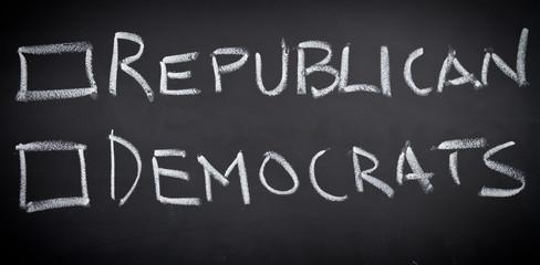 Republican and democrats