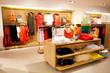 Leinwanddruck Bild - interior of women's clothing store