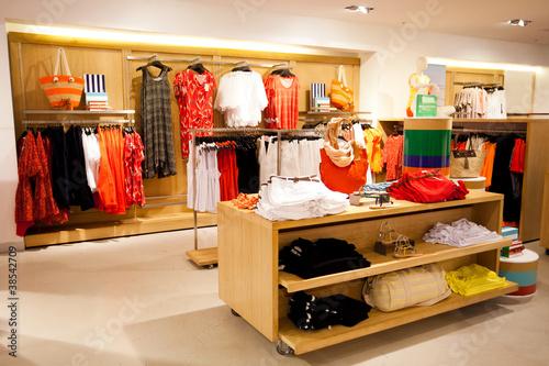Leinwanddruck Bild interior of women's clothing store