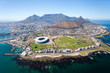 Leinwandbild Motiv overall aerial view of Cape Town, South Africa