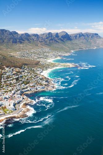 Leinwandbild Motiv aerial view of coast of Cape Town, South Africa