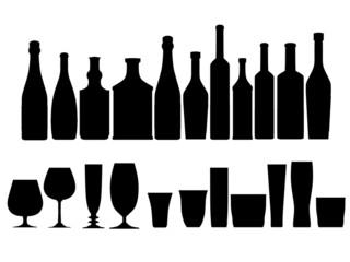 bottless glasses silhouette outline